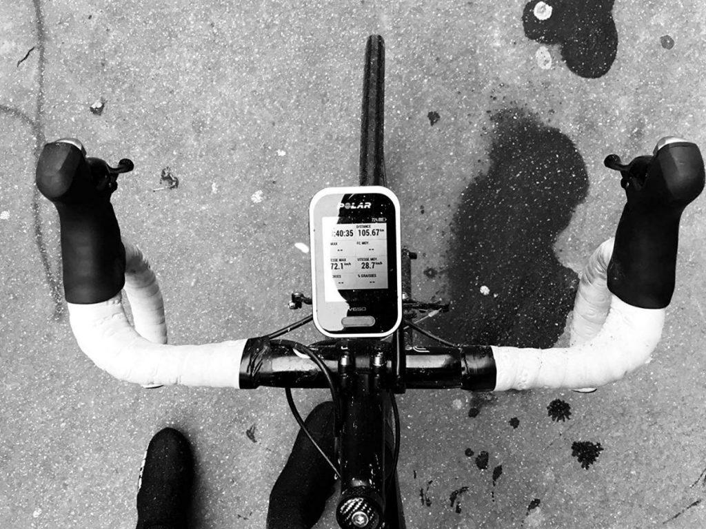 compteur GPS de vélo avec cartographie